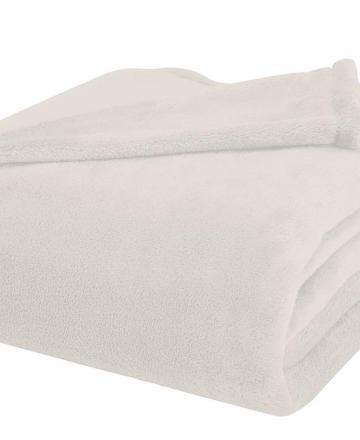 Polar Fleece Blanket (white) - 230cm X 154cm