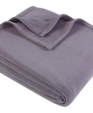 Polar Fleece Blanket (grey)  - 230cm X 154cm
