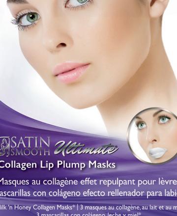 Satin Smooth Collagen Lip Plump Mask - 3 masks/box
